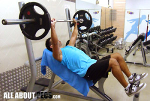incline dumbbell press with barbell