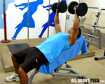 The incline dumbbell press is a 'bread and butter' exercise for the upper chest